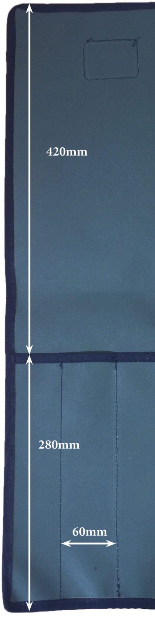 AOS Tool & Knife Wrap - Green Canvas – 12 Piece