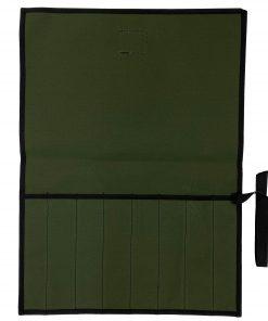 AOS Tool & Knife Wrap - Green Canvas - 8 Piece