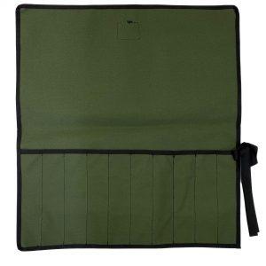 AOS Tool & Knife Wrap - Green Canvas – 10 Piece