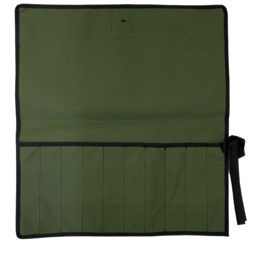 AOS Tool & Knife Wrap - Green Canvas – 10 Piece
