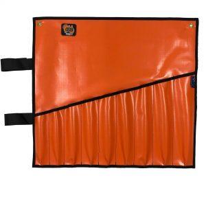 AOS Spanner Roll - Large 10 Pockets - Orange PVC