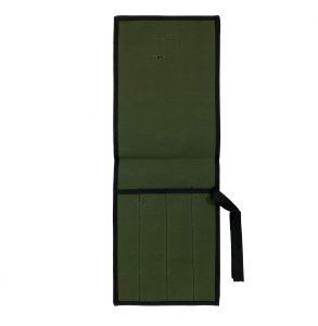 AOS Tool & Knife Wrap - Green Canvas - 4 Piece