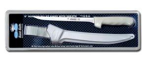 "Sani-Safe Narrow Fillet Knife with Sheath 7"""