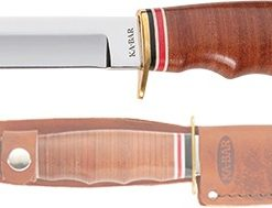 "HUNTER, 8-1/8""-STACKED LEATHER HANDLE"