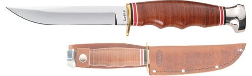 """HUNTER, 8-1/8""""-STACKED LEATHER HANDLE"""