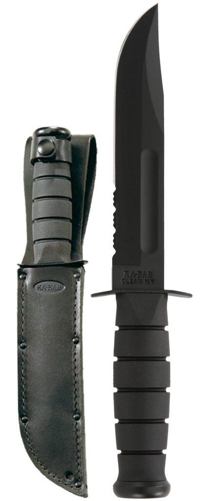 Full Size Black KA-BAR® - Serrated Edge (1212)