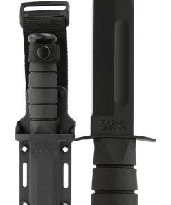 Full Size Black KA-BAR® - Straight Edge with Hard Plastic Sheath (1213)