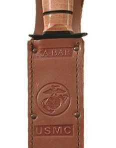 "KA-BAR® Full-size Brown Leather USMC Sheath for 7"" Blades (1217s)"