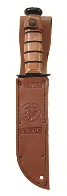 "KA-BAR® Full-size Brown Leather USMC Sheath for 7"" Blades (1217s)"