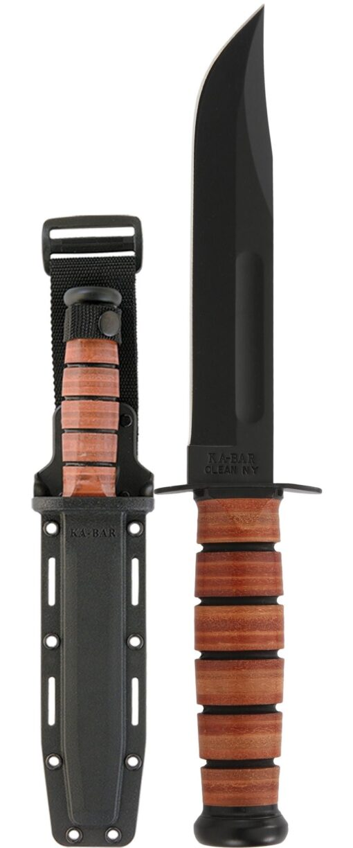 KA-BAR® Full Size with Leather Handle & Hard Plastic Sheath (5017)