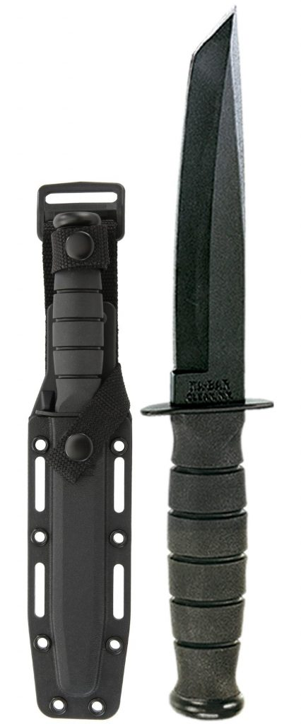 KA-BAR® Short Tanto with Hard Plastic Sheath (5054)