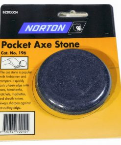 Norton / Bear Pocket Axe Sharpening Stone 7.5 CM Combination Course and Fine Grit Oil Stone