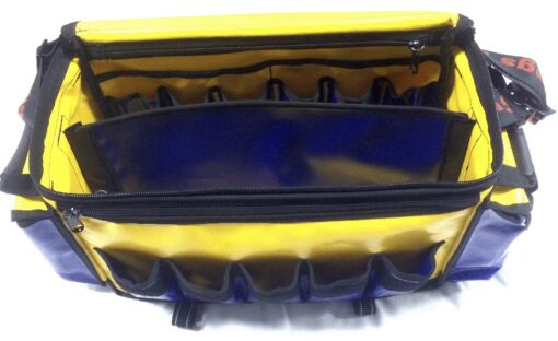 AOS Contractor Tool Bag - Large - Yellow/Blue PVC