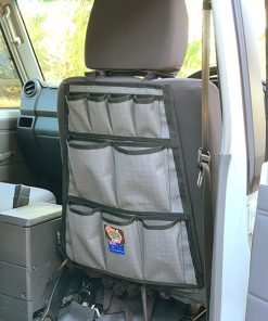 AOS Canvas Seat Organiser / 12 Pocket - Grey