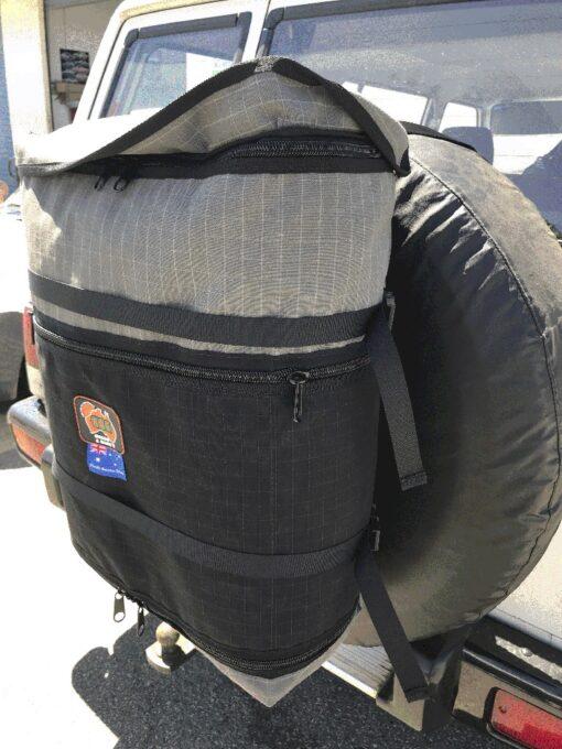 AOS Canvas Spare Wheel Storage Bin / Bag - Grey