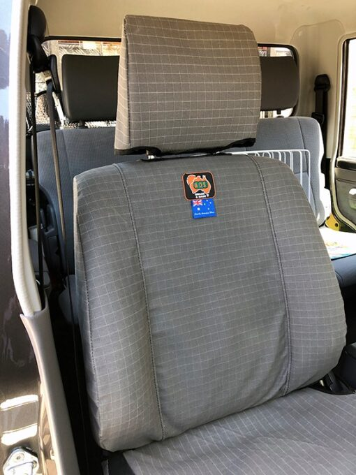AOS Canvas Seat Cover for Landcruiser 79 Series Workmate front seat - Grey