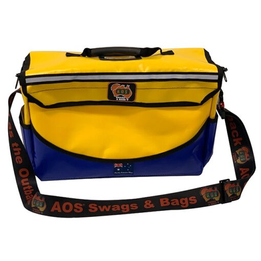 AOS Deluxe Tool Bag - PVC- Large - Yellow/Blue