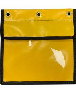 AOS Pre Start Document Log Book Holder - Yellow Waterproof PVC