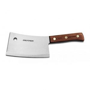 """Dexter Russell Traditional 7"""" Stainless Heavy Duty Cleaver 08220"""
