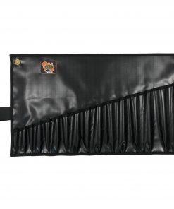 AOS Spanner Roll - Medium 16 Pockets - Black PVC