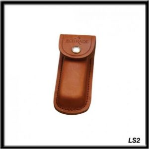Old Timer LS1 Medium Size Brown Leather Belt ShSheath with Button Clasp and Hard Exterior for Outdoor, Hunting, Camping and EDC