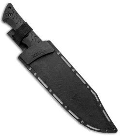 "Schrod Bowie Fixed Blade Knife Black TPE (10.25"" Gray) SCHF45"