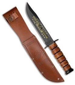 """Ka-Bar Bowie Full Size USMC Operation Enduring Freedom Knife (7"""" Black) 9169"""