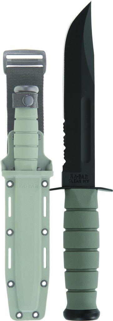 Foliage Green Fighter - Serrated / FRN Sheath 5012