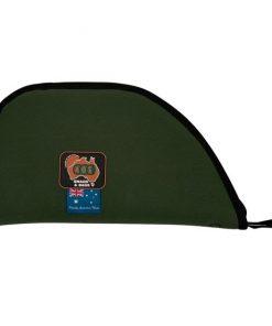 """AOS Canvas pistol bag green heavy duty 15"""" scoped"""