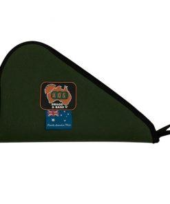 """AOS Canvas pistol bag green extra heavy duty 15"""" no scope"""