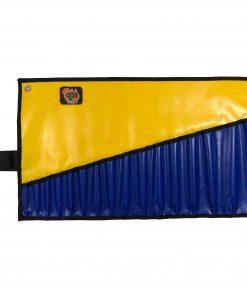 AOS Spanner Roll - Medium 16 Pockets - Yellow/Blue PVC