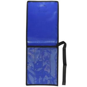 AOS 4 Piece BLUE PVC with CLEAR PVC FRONT KNIFE WRAP