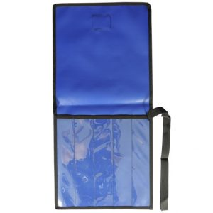 AOS 5 Piece BLUE PVC with CLEAR PVC FRONT KNIFE WRAP