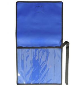 AOS 6 Piece BLUE PVC with CLEAR PVC FRONT KNIFE WRAP