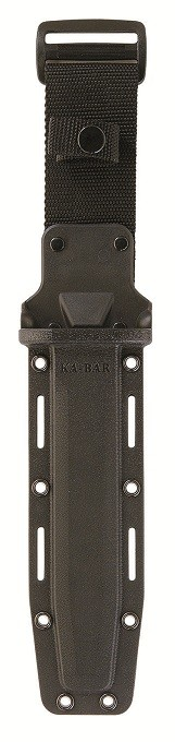 "KA-BAR 1292 D2 Extreme Fixed Blade Knife 7"" Black Plain Blade, Kraton G Handle, Kydex Sheath"