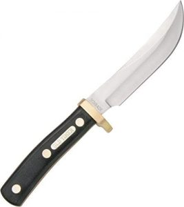 Old Timer 165OT Woodsman 9.3in High Carbon S.S. Full Tang Fixed Blade Knife with 5in Clip Point Blade and Sawcut Handle