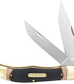Old Timer 25OT Hunter 9.3in S.S. Traditional Folding Knife with 4in Clip Point Blade and Sawcut Handle