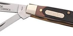 Old Timer 33OT Middleman Jack 5.7in S.S. Traditional Folding Knife with 2.4in Clip Point Blade and Sawcut Handle