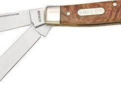 Old Timer 8OTW Senior 6.9in S.S. Traditional Folding Knife with 3in Clip Point Blade and Wood Handle