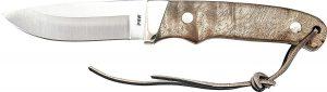 """Old Timer Pro Hunter Knife Desert Ironwood 3.625"""" Satin with sheath"""