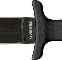 Schrade SCHF19 Small Boot Knife Spear Point Fixed Blade TPE Handle