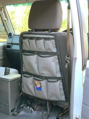 AOS Canvas Seat Organiser / 12 Pocket - Grey