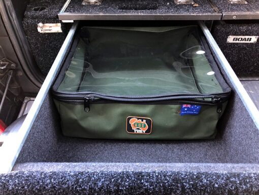 AOS Cargo Drawer Bag - Large with Clear Top - Grey Canvas